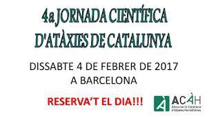 4a Jornada Científica d'Atàxies de Catalunya inscriu-t'hi a info@acah.cat