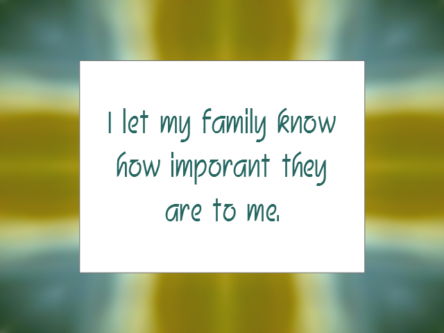 FAMILY affirmation