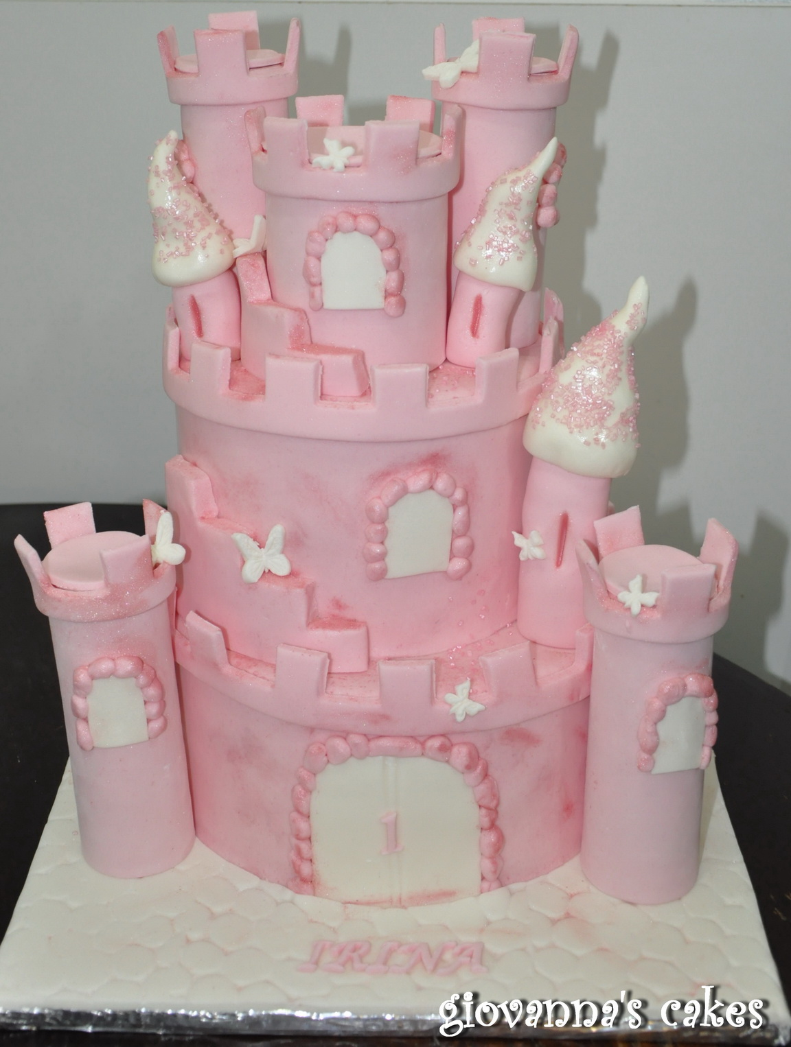 irinas pink castle cake