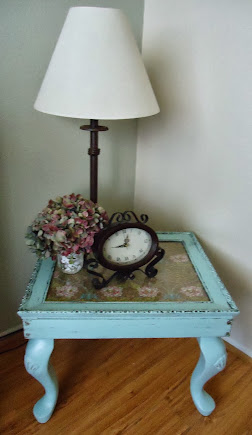 Vintage Style Side Table in Tiffany Blue - SOLD