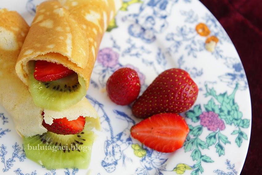 ince pankek pancake ruloları tarifi