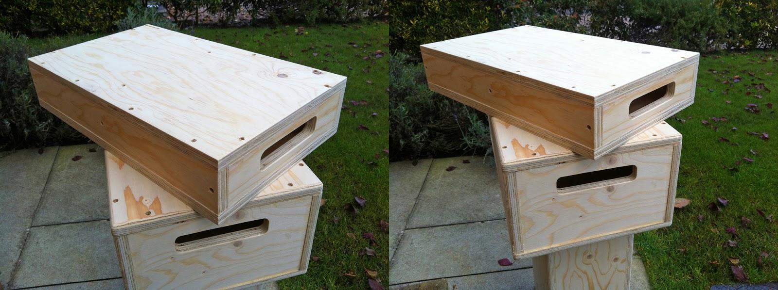 Half apple boxes diy for Diy apple boxes