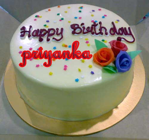Birthday Cake Images With Priya Name : priyankainfosys: happy birthday priya