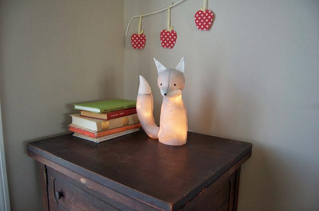 DIY lampe renard en tissu