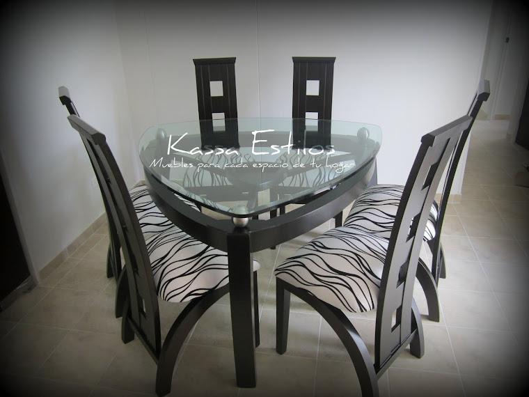 Kassa estilos muebles decoraci n sala en l 3 modulos for Comedor gota