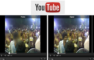 Youtube blur before and after