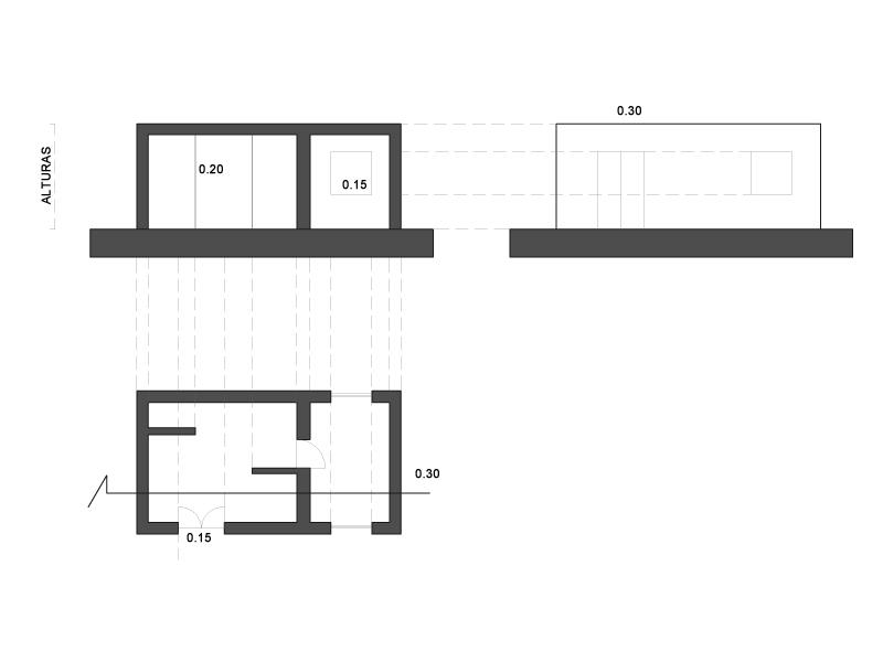 Imoarq arquitectura y m s c mo hacer un alzado y secci n - Alzado arquitectura ...