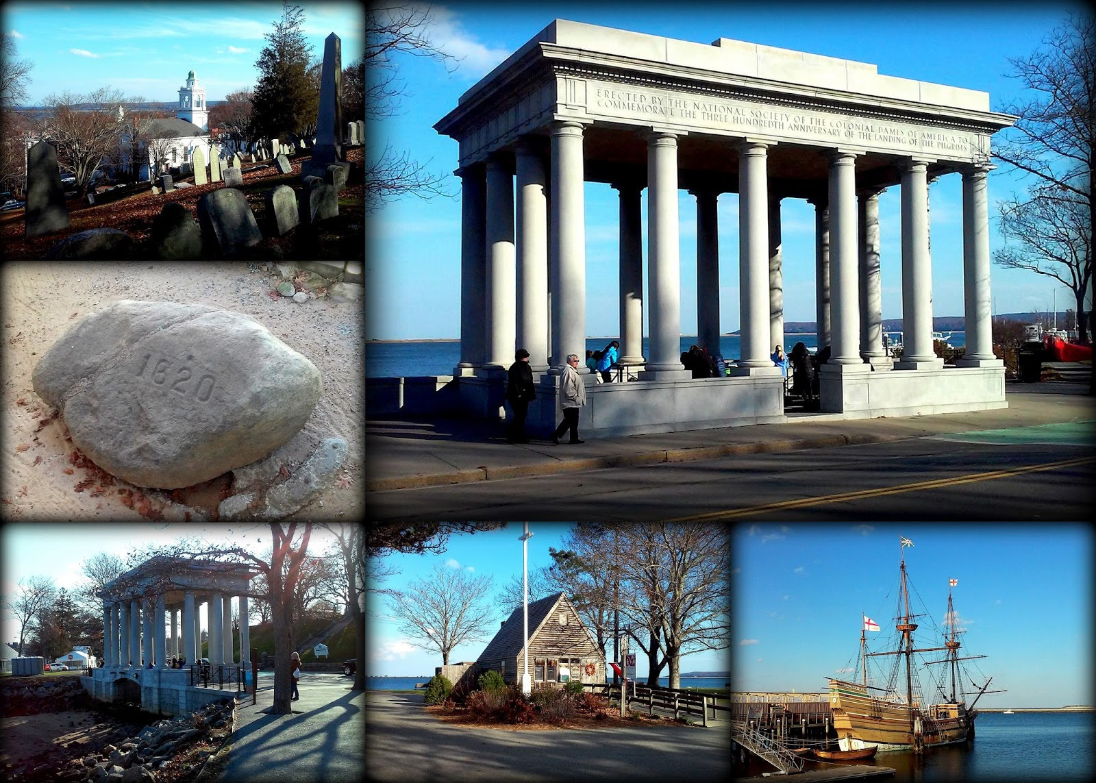 Plymouth Rock, Memorial, Plymouth, Massachusetts, pilgrims, mayflower, mayflowerII