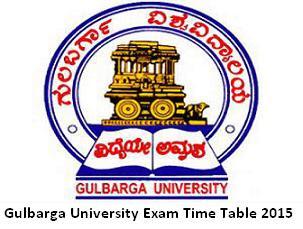 Gulbarga Exam Time Table 2016 Nov Dec ug pg BA BSC Bcom exam date pdf Download