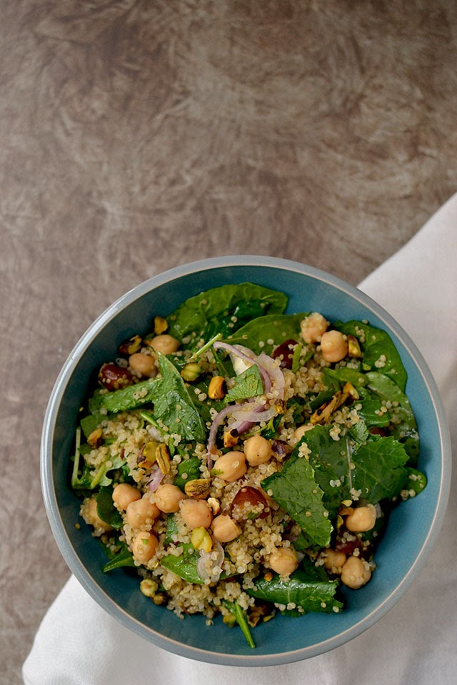 Pistachio & Dates Salad with Quinoa
