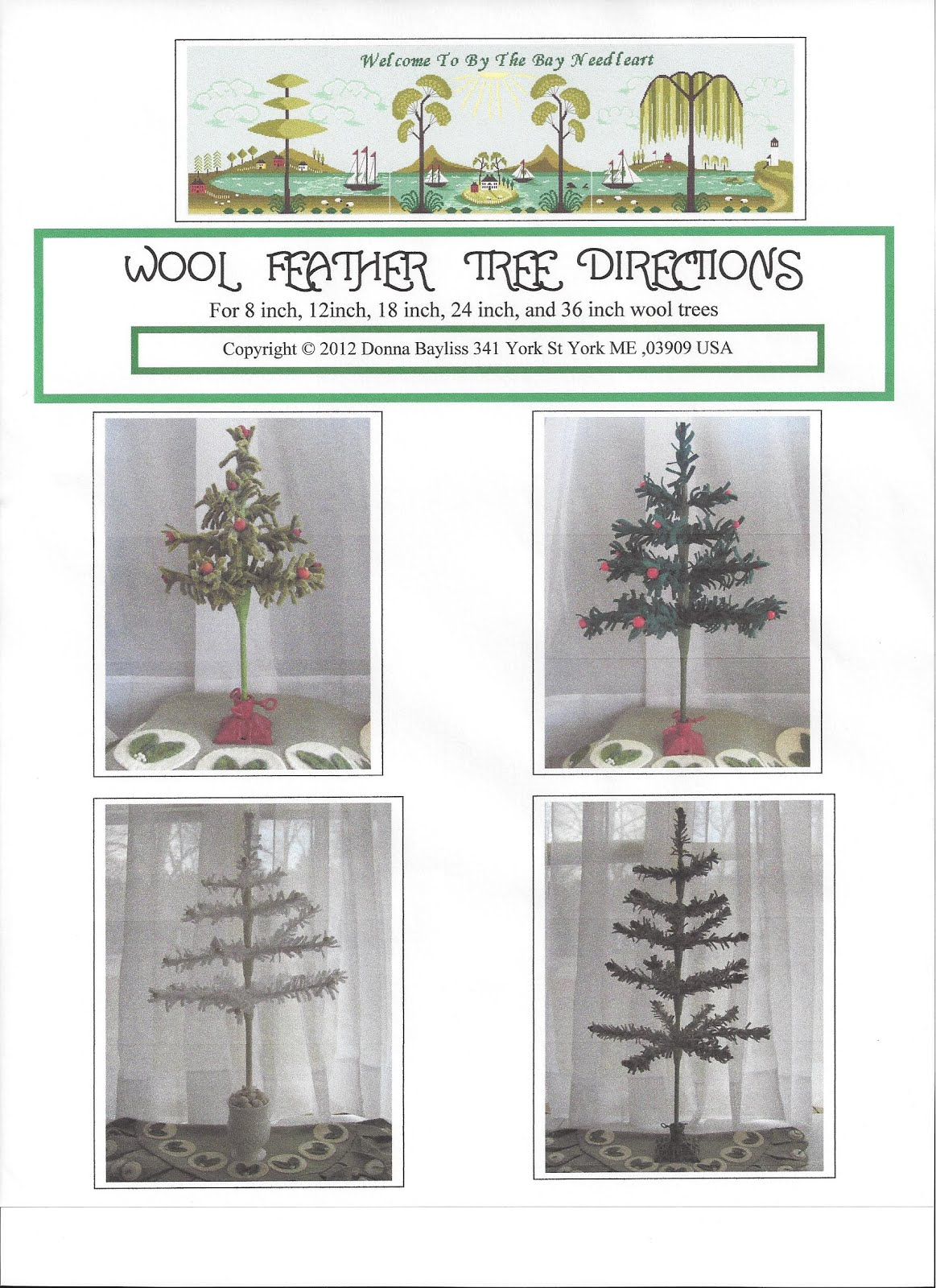 Click photo for Wool/Feather Tree Directions