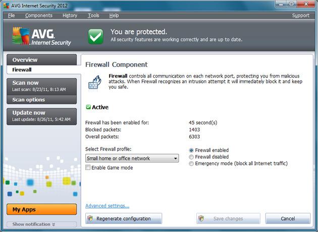 how to block program in avg firewall