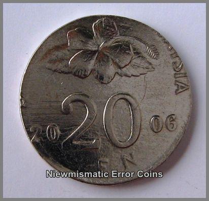 Malaysia Bunga Raya Series 2006,20 Cents Coin
