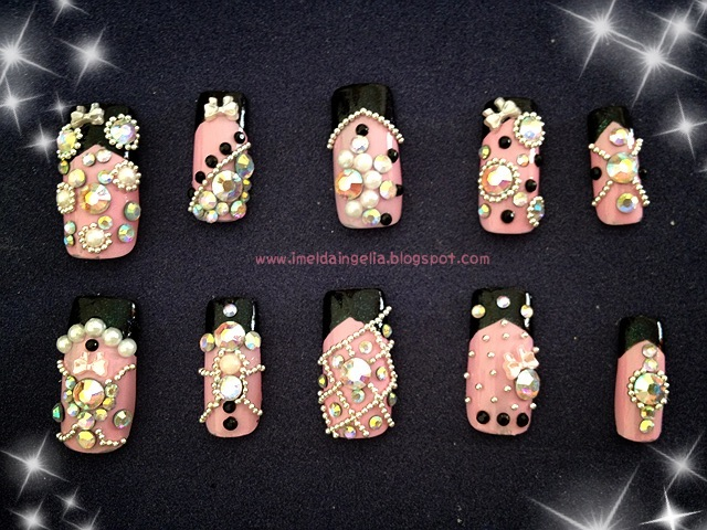 imelda ingelia beauty blog bling bling lolita nail art design prinsesfo Images