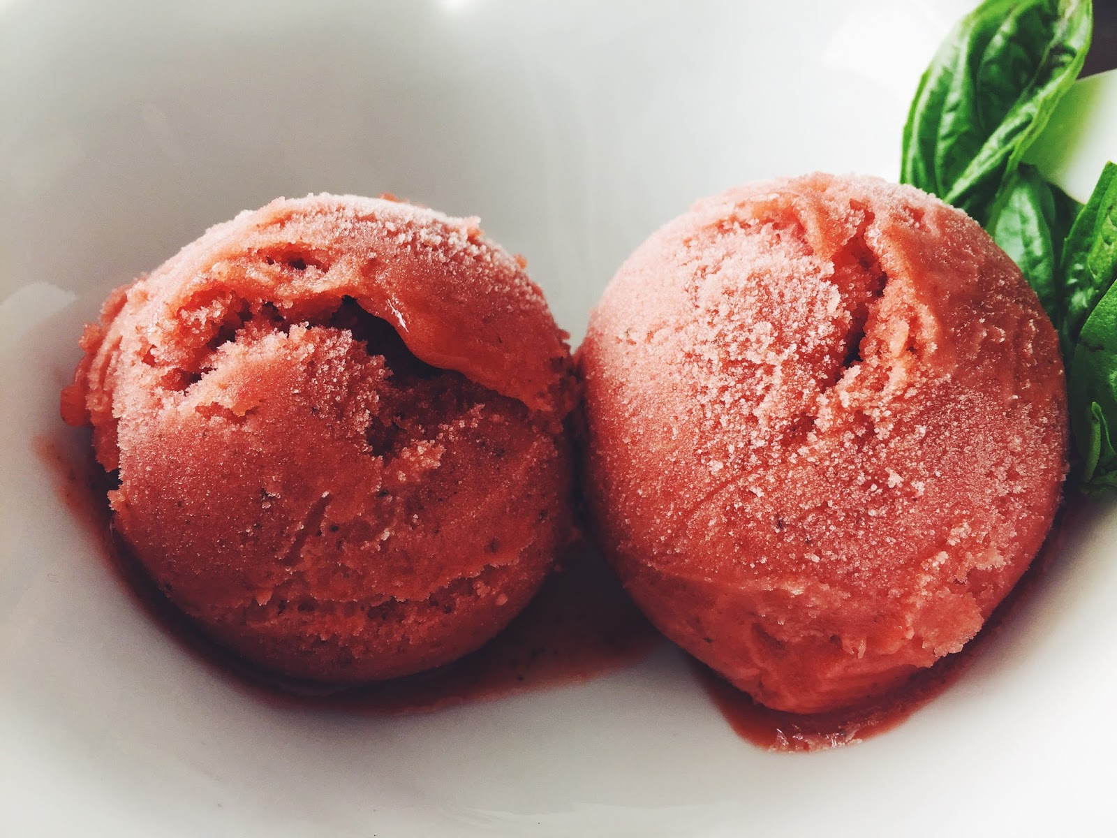Strawberry-Basil Sorbet | D.M.R. Fine Foods