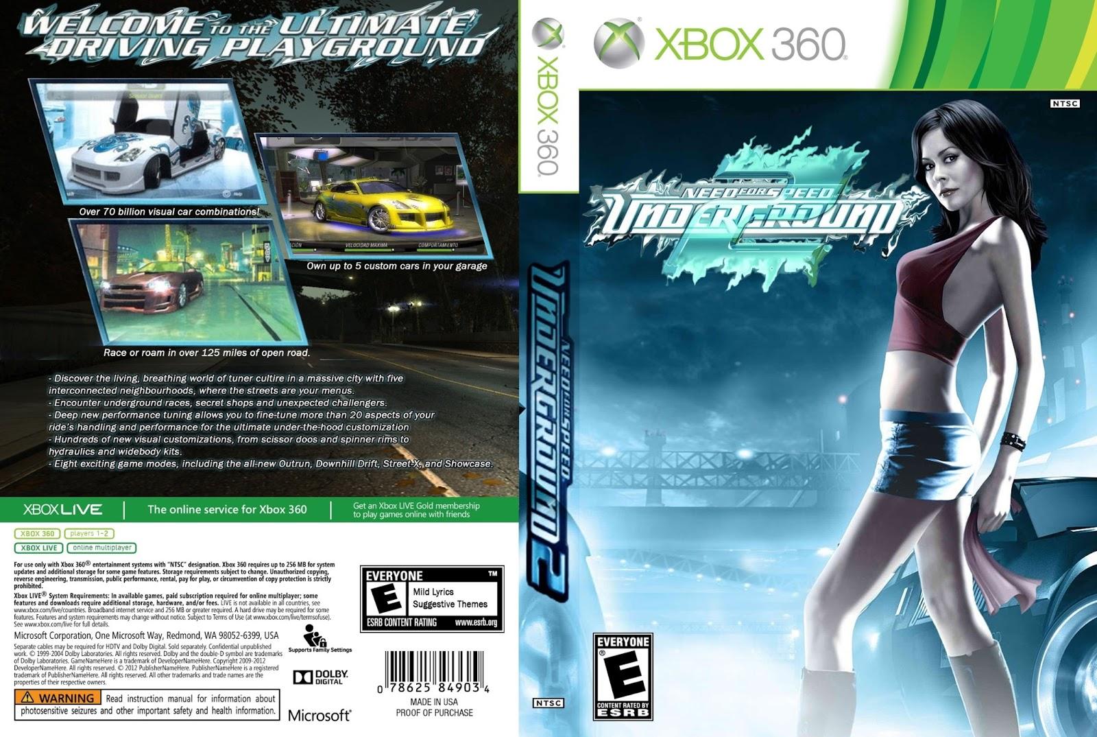 Capa Jogo Need For Speed Underground 2 Xbox 360