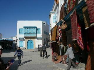 Puesto de alfombras en Kairouan - Túnez