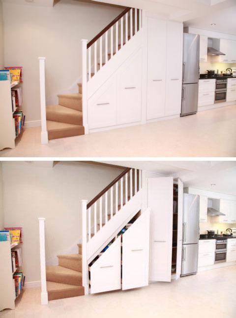 Interieurbouw kasten onder de trap geen huis zonder een for Under stairs storage plans