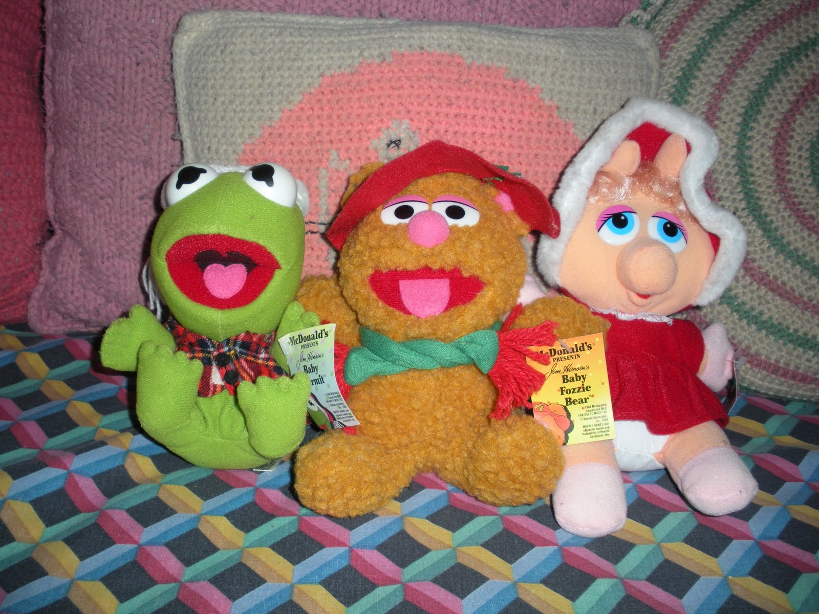 my aunt al got me the stuffed animals from mcdonalds sometime in the early 80s which are also when i got the other decorations i used to love decorating - 1980s Christmas Decorations