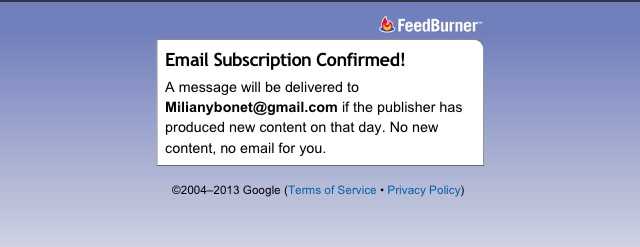 email subscription confirmation