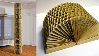 The art of up cycling old book craft ideas repurpose for Books with art projects