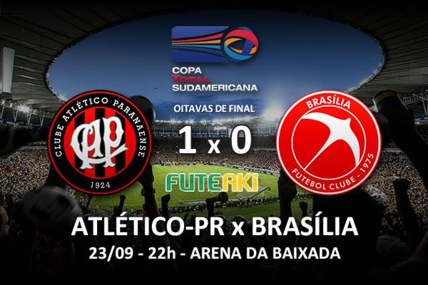 Veja o resumo da partida com o gol e os melhores momentos de Atlético-PR 1x0 Brasília pelas oitavas de final da Copa Sul-Americana 2015.