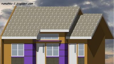 denah desain rumah minimalis type 54/120