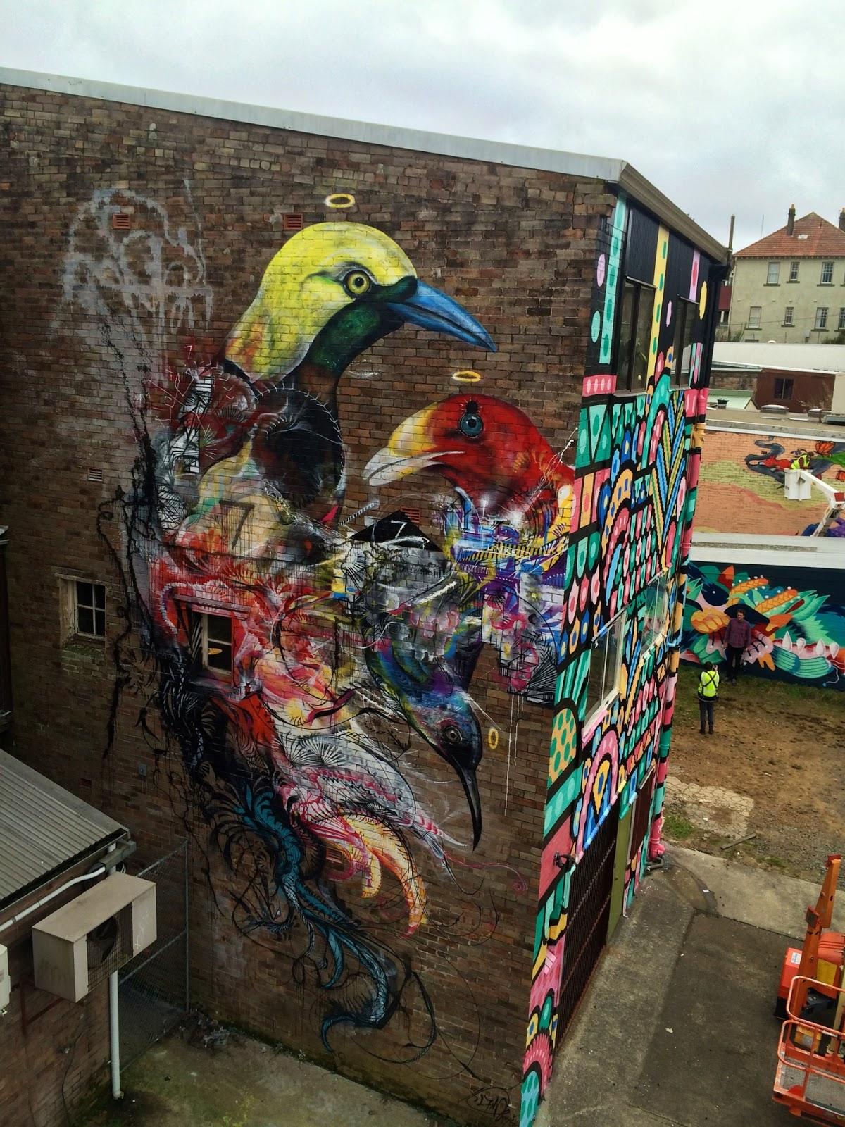 L7m creates a new mural in katoomba australia for Australian mural