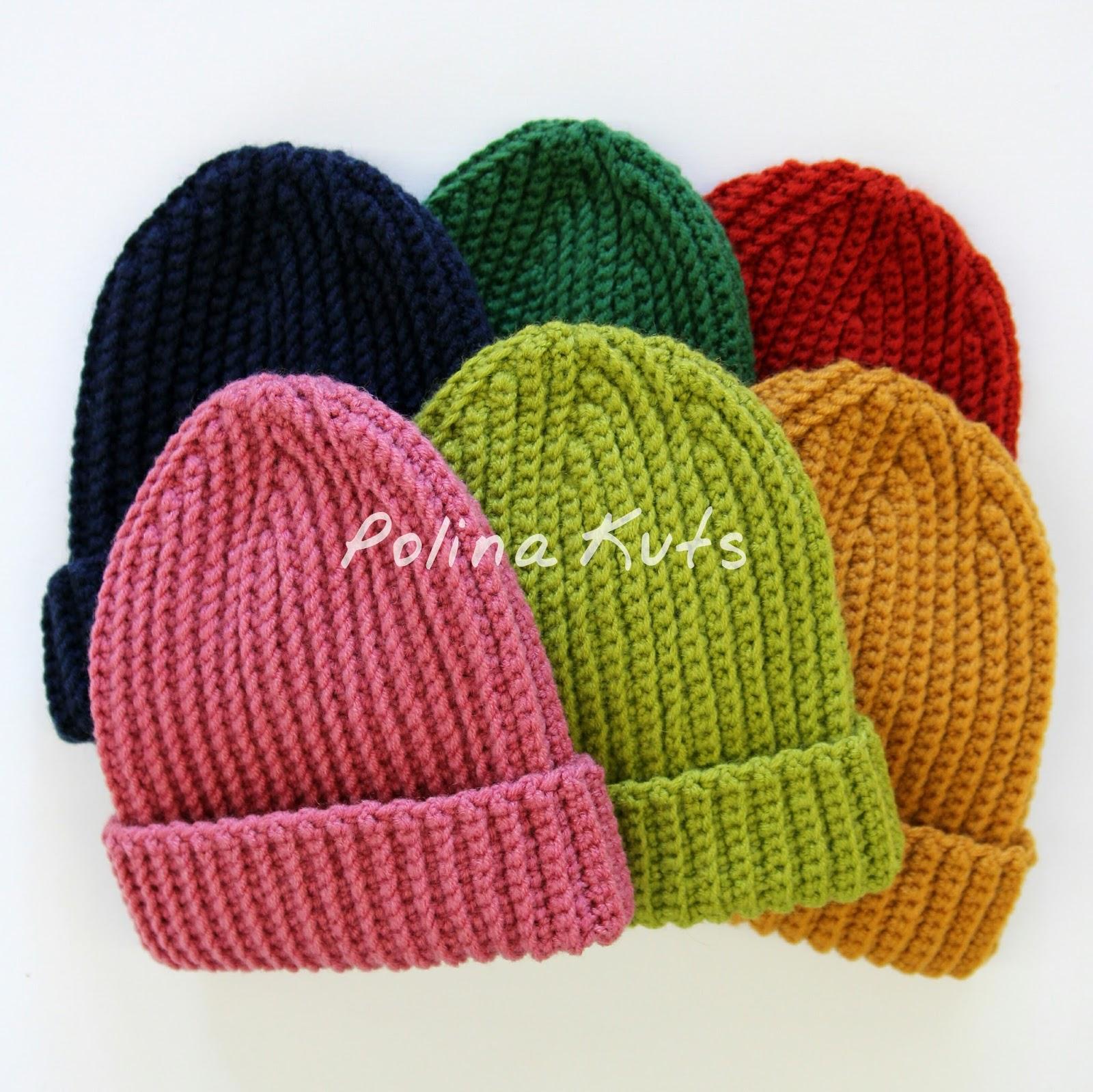 шапка бини резинкой спицами