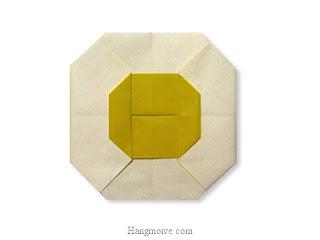 Cách gấp, xếp trứng ốp la bằng giấy origami - Video hướng dẫn xếp hình đồ ăn - How to fold a fried egg