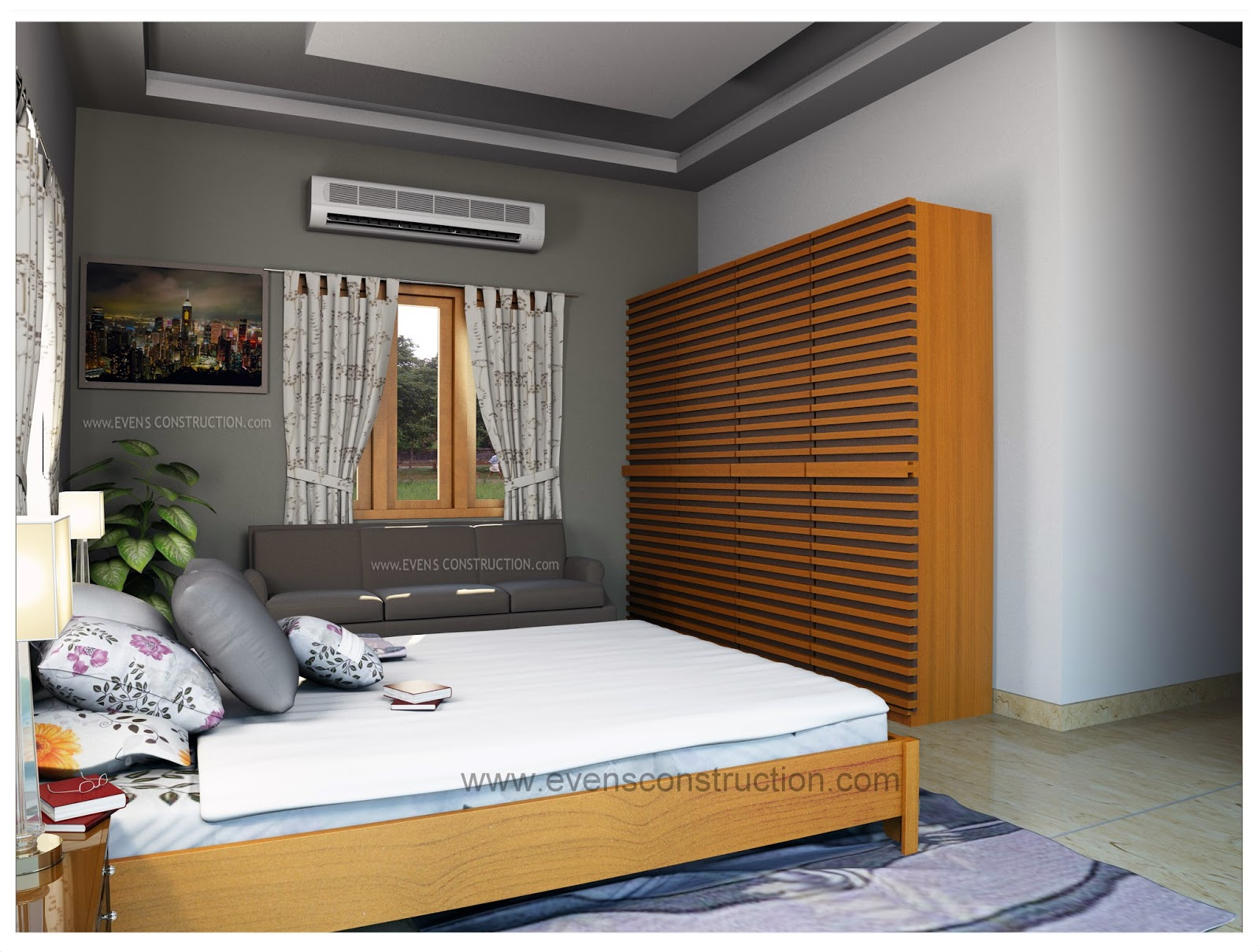 Evens construction pvt ltd simple and cute bedroom interior for Cute simple bedrooms