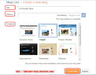 How To Create Blogspot 2013