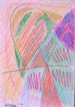 Dibujo sucio en violeta