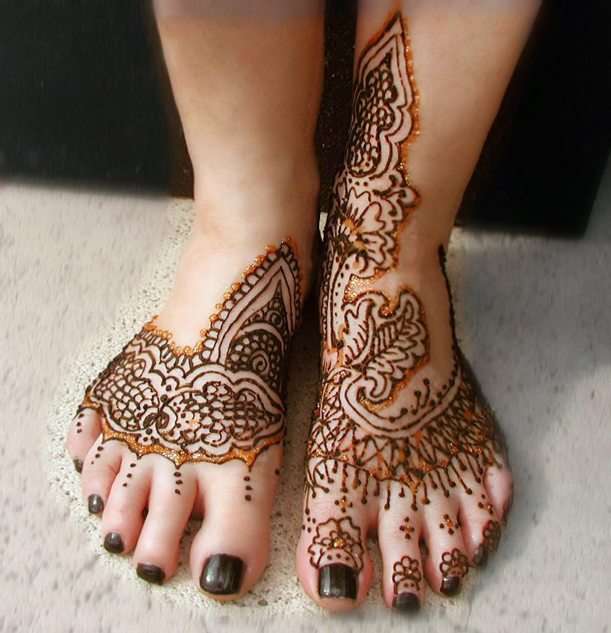 Henna Foot Tattoos