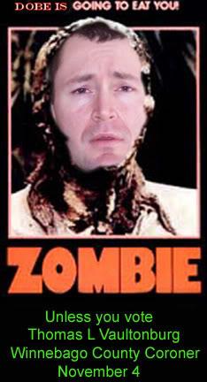 Zombie Party candidate Thomas L. Vaultonburg