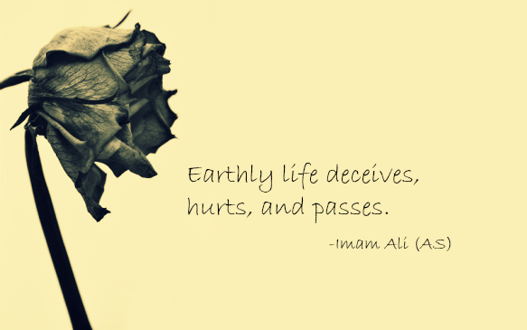 Earthly life deceives, hurts, and passes.