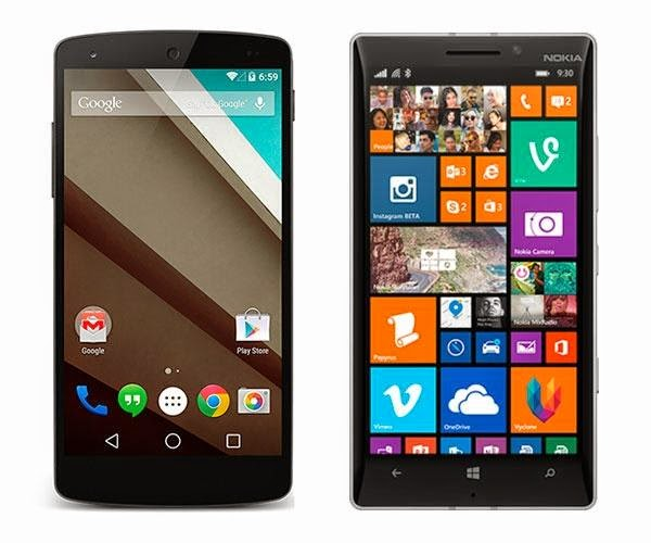 Android L Vs Windows Phone 8.1