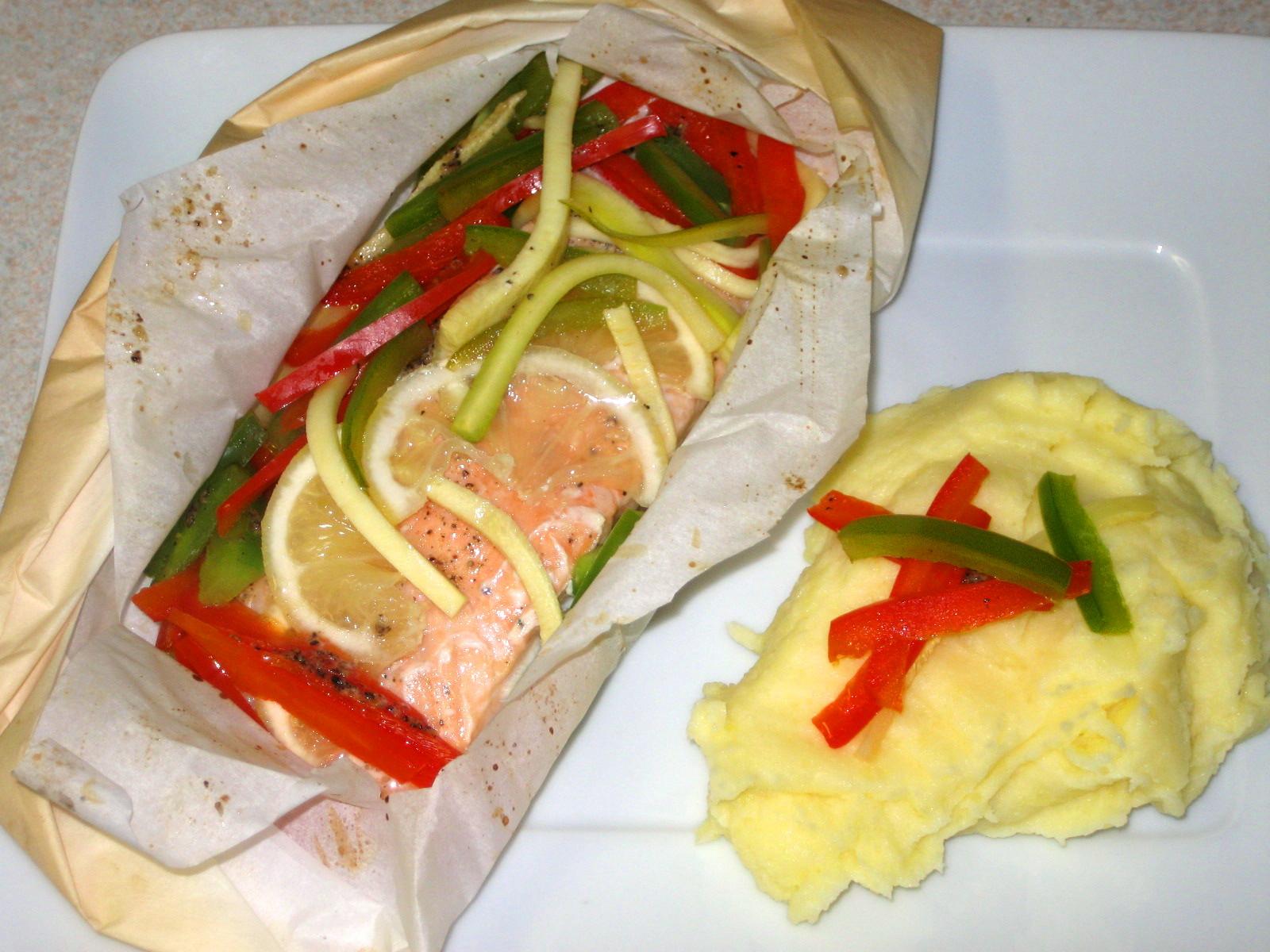 My food garden golf etc saumon en papillote - Saumon en papillote ...