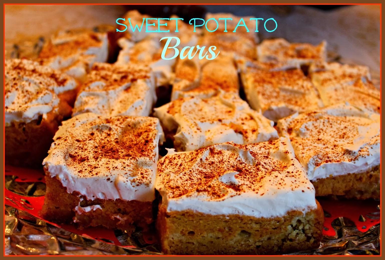 Sweet Tea and Cornbread: Aunt Ann's Sweet Potato Bars!