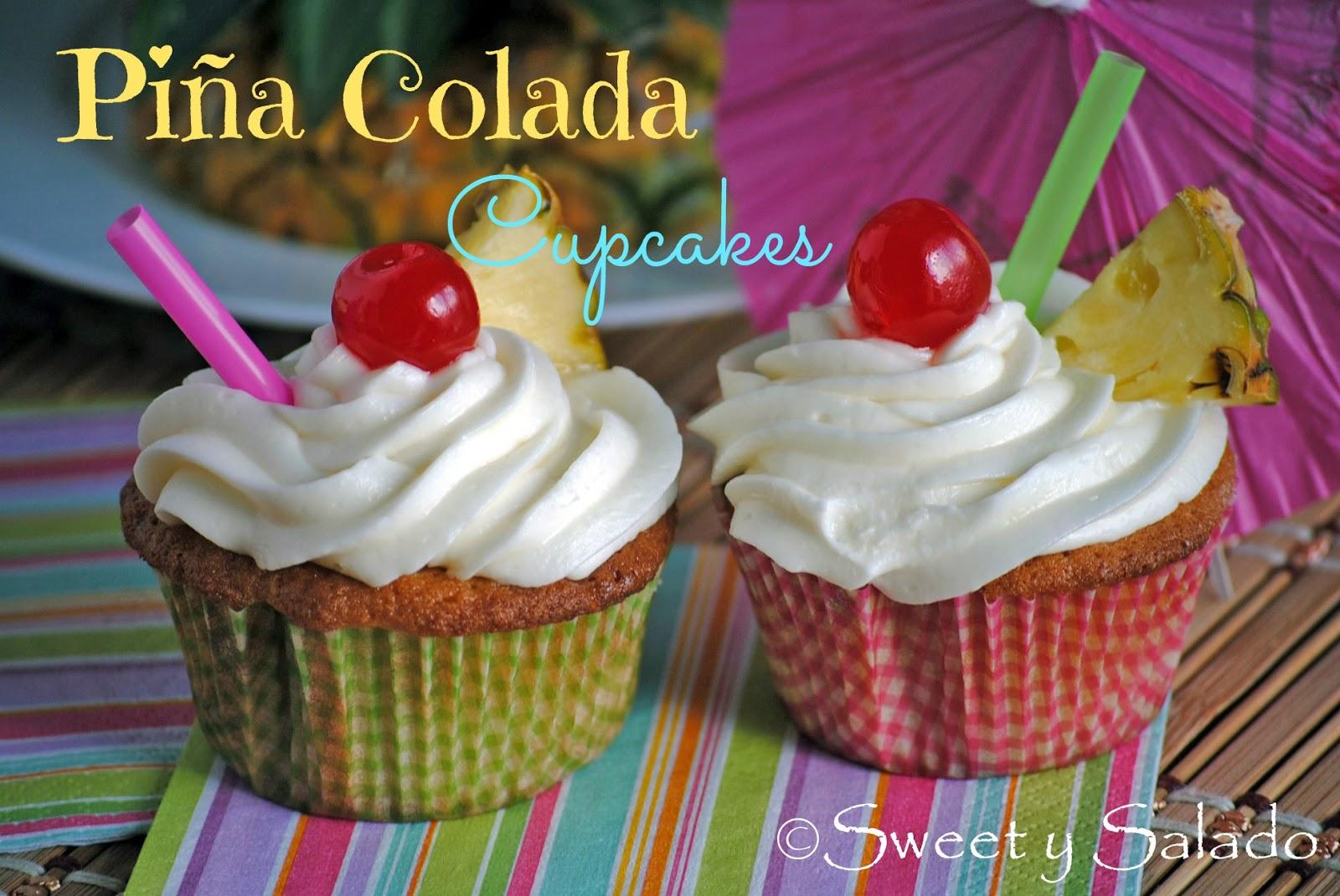 Sweet y Salado: Piña Colada Cupcakes
