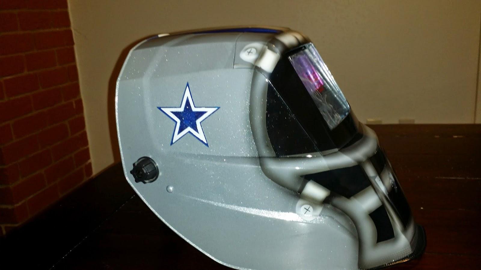 custom airbrushed dallas cowboys welding helmet