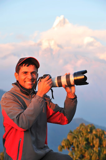 Trekking guide and photographer in Nepal