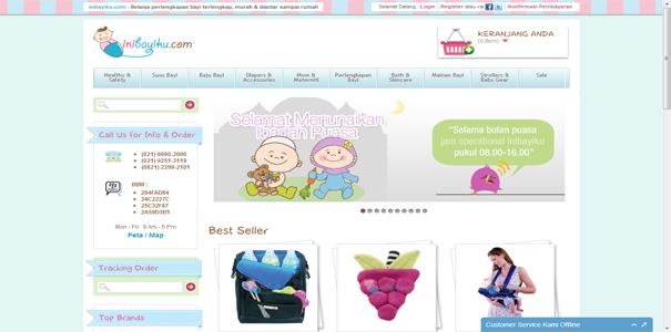 polisi online, perlengkapan bayi