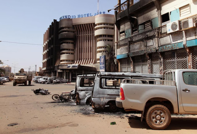 Photos: Al-Qaida attacks hotel in Burkina Faso 2