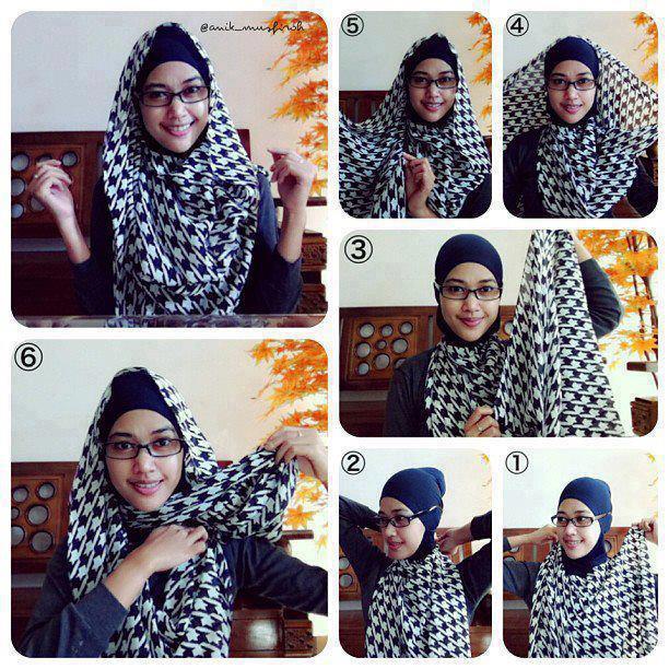 Cara Memakai Jilbab Paris Modern 2013