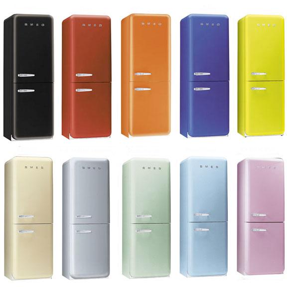 IDEE REGALO...VEDERLI E\' VOLERLI: Smeg FAB32 il frigorifero moderno ...