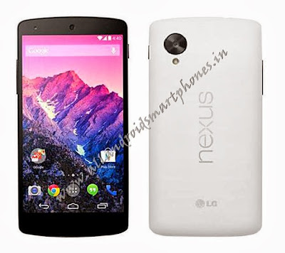 LG Nexus 5 Android 5 inch 4G Phablet Black White Front Back Images Photos Review