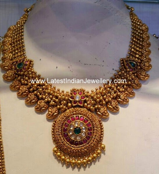 antique gold bridal necklace