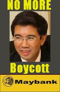 NO MORE Zafrul, BOYCOTT Maybank