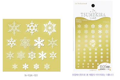 Nail Stickers, Nail Sticker Snow Flowers, Snow-shaped Nail Sticker